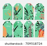 hand drawn creative tags....   Shutterstock .eps vector #709518724