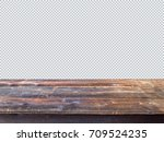 old  rustic table with saved... | Shutterstock . vector #709524235