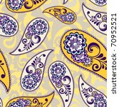 paisley seamless pattern   Shutterstock .eps vector #70952521