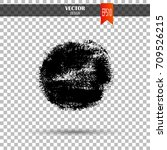 hand drawn circle shape. label  ... | Shutterstock .eps vector #709526215