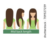 hair length for haircuts and... | Shutterstock .eps vector #709527259