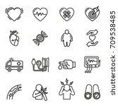 heart disease  heart attack and ... | Shutterstock .eps vector #709538485