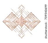 rose gold. trendy geometric... | Shutterstock .eps vector #709540699