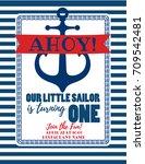 nautical sailor theme printable ... | Shutterstock .eps vector #709542481