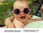 baby in sunglasses | Shutterstock . vector #709544677