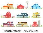 vector flat icon suburban... | Shutterstock .eps vector #709549621