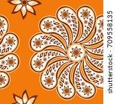 seamless paisley  pattern ...   Shutterstock .eps vector #709558135