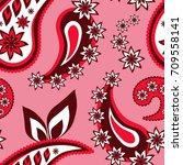 seamless paisley  pattern ...   Shutterstock .eps vector #709558141