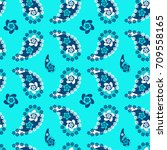 seamless paisley  pattern ...   Shutterstock .eps vector #709558165