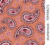 seamless paisley  pattern ...   Shutterstock .eps vector #709558171