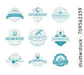 oktoberfest labels  badges and... | Shutterstock .eps vector #709562359