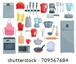 kitchen utensil  kitchenware... | Shutterstock .eps vector #709567684