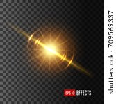 light flash with lens flare... | Shutterstock .eps vector #709569337
