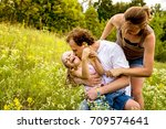 family playing together. | Shutterstock . vector #709574641