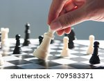 playing chess | Shutterstock . vector #709583371