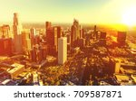aerial view of a downtown los... | Shutterstock . vector #709587871