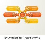 vector infographic template for ... | Shutterstock .eps vector #709589941