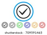 ok tick rounded icon. vector...
