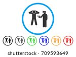 arrest rounded icon. vector... | Shutterstock .eps vector #709593649