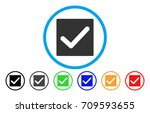 check rounded icon. vector...