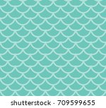 fish scales seamless pattern.... | Shutterstock .eps vector #709599655