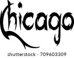chicago text sign illustration... | Shutterstock .eps vector #709603309