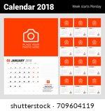 wall calendar planner template... | Shutterstock .eps vector #709604119