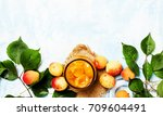 Apricot Confiture In Glass Jar...