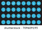 vector icons web and mobile.... | Shutterstock .eps vector #709609195