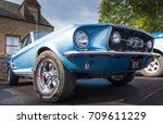 GRANTOWN ON SPEY, SCOTLAND - September 3 2017: Classic Ford Mustang at a Vintage Rally - stock photo