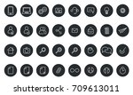 vector icons web and mobile.... | Shutterstock .eps vector #709613011