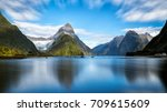 milford sound  new zealand.  ... | Shutterstock . vector #709615609