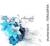 watercolor vector background... | Shutterstock .eps vector #709618954