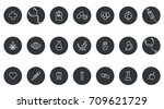 medical vector icons. one line... | Shutterstock .eps vector #709621729