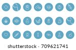 medical vector icons. one line... | Shutterstock .eps vector #709621741