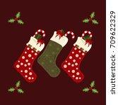 christmas  stocking | Shutterstock .eps vector #709622329