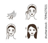 steps how to use eye patches... | Shutterstock .eps vector #709627021