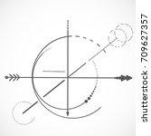 geometry scheme sacred line... | Shutterstock .eps vector #709627357