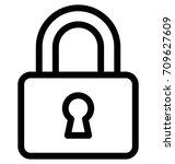 padlock vector icon | Shutterstock .eps vector #709627609