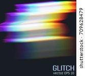 glitch effect of horizontal...   Shutterstock .eps vector #709628479