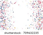 abstract background with flying ... | Shutterstock .eps vector #709632235