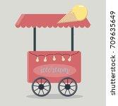 ice cream flat icon vector | Shutterstock .eps vector #709635649