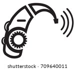 hearing aid icon   illustration | Shutterstock .eps vector #709640011