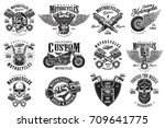 set of vintage custom... | Shutterstock .eps vector #709641775