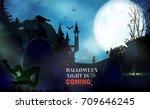 halloween  horizontal... | Shutterstock .eps vector #709646245