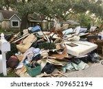 Trash Pile Of Damaged House...