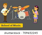 music school. a set of figures... | Shutterstock . vector #709652245