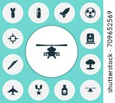 battle icons set. collection of ... | Shutterstock .eps vector #709652569