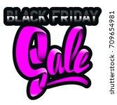 black friday. super sale. 24... | Shutterstock .eps vector #709654981