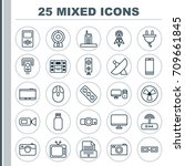 icons set. collection of... | Shutterstock .eps vector #709661845